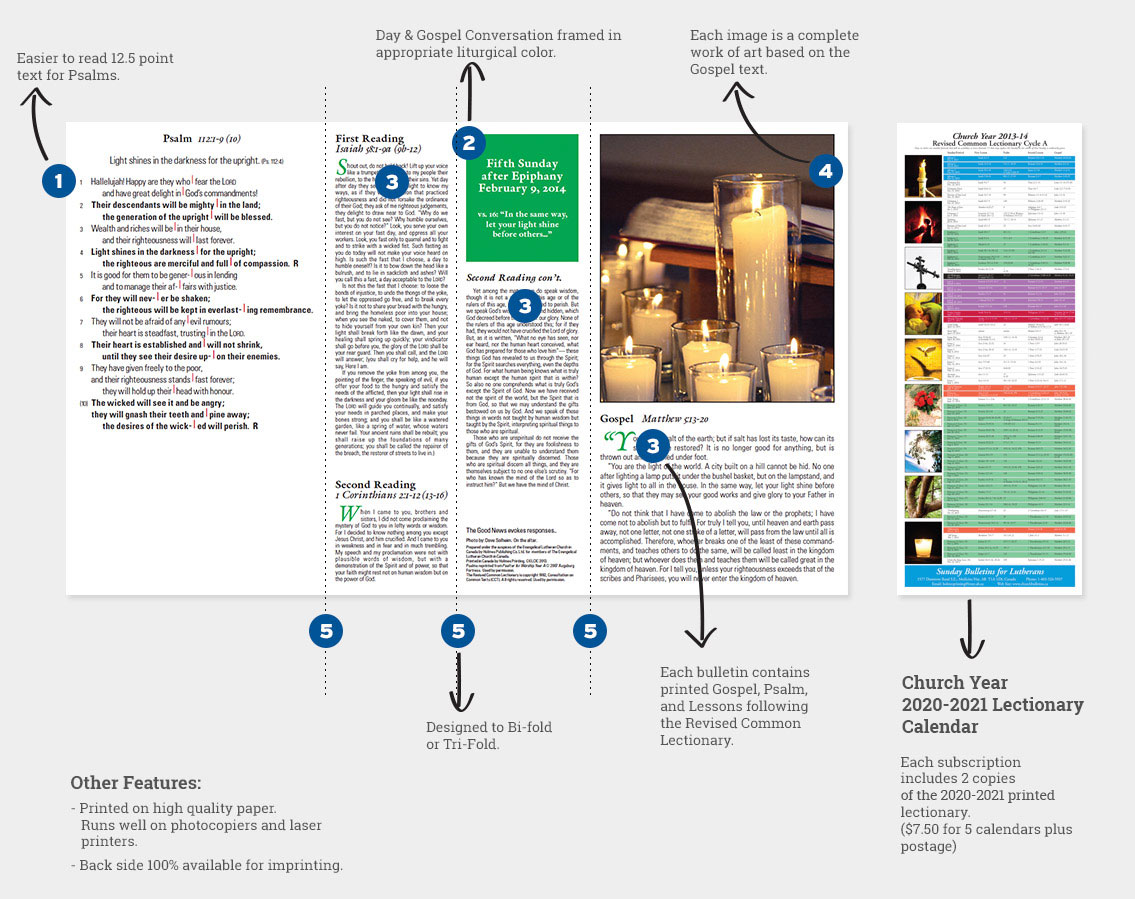 Bulletin Layouts and Features